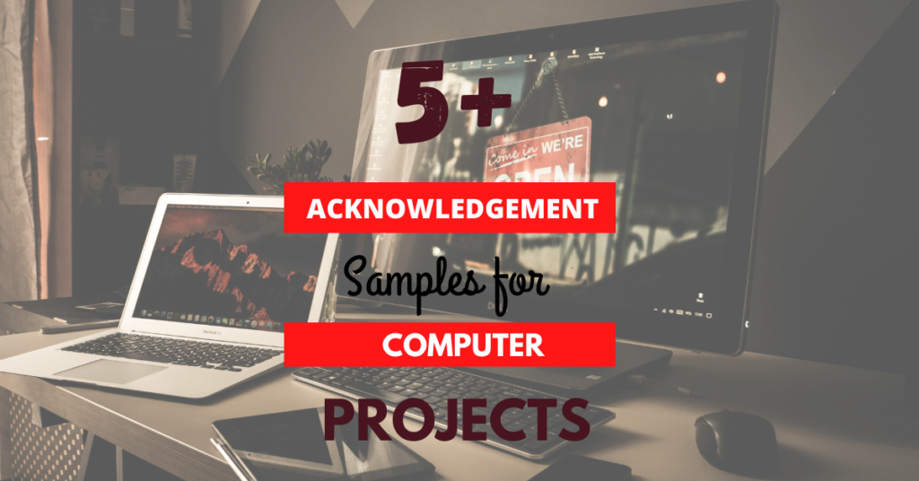 acknowledgement samples for computer project