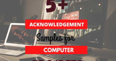 computer project acknowledgement