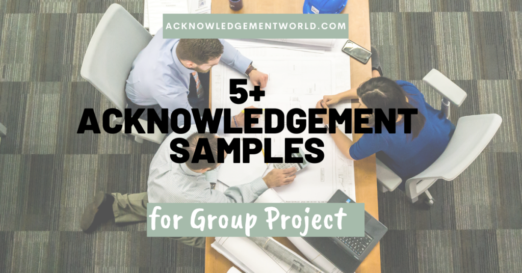 group project acknowledgement