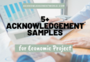 Top 5 Best Acknowledgement for Economic Project for Good Grades