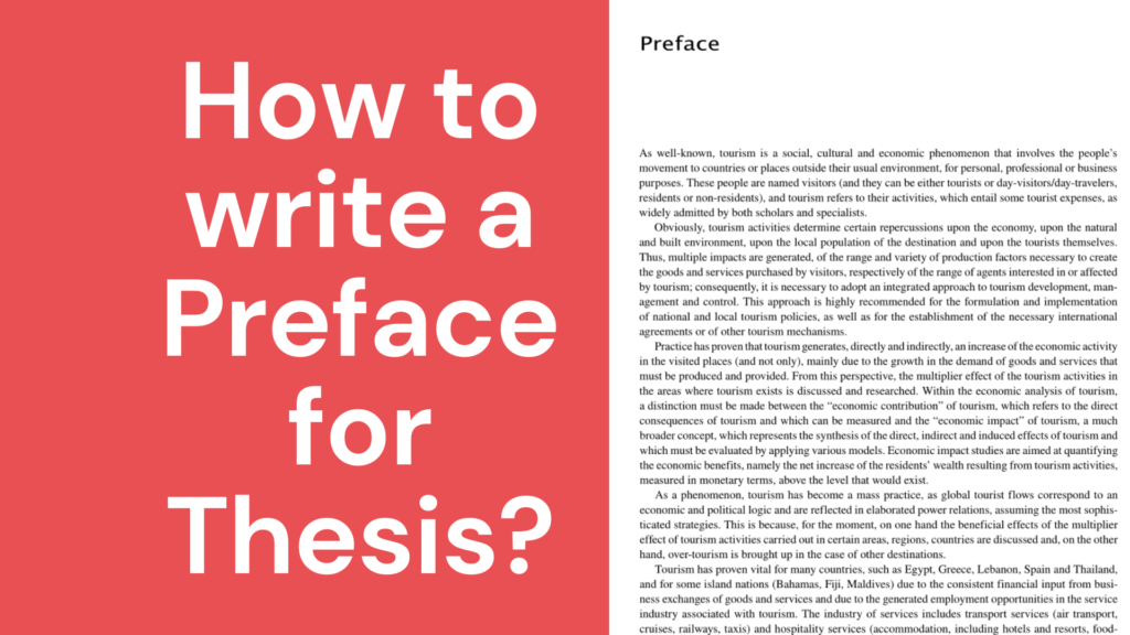 how to write preface