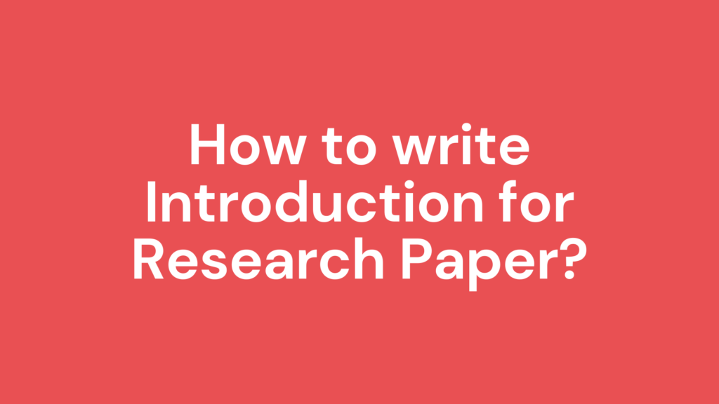 introduction for research paper
