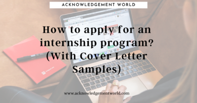How to apply for internship program? (With Cover Letter Samples)